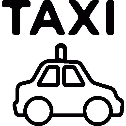 transport en taxi  Icône gratuit