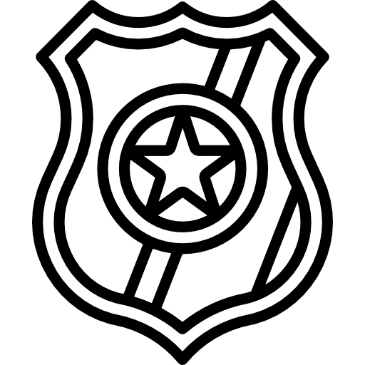 Police badge  free icon