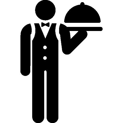 Официант  бесплатно иконка