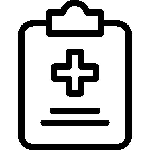 historial médico  icono gratis
