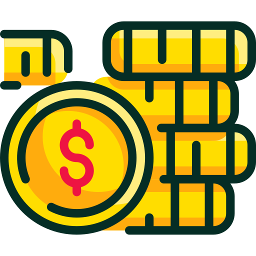 monedas  icono gratis