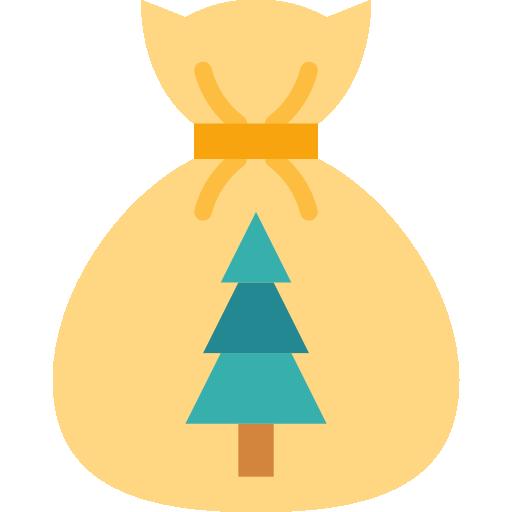 bolsa de navidad  icono gratis