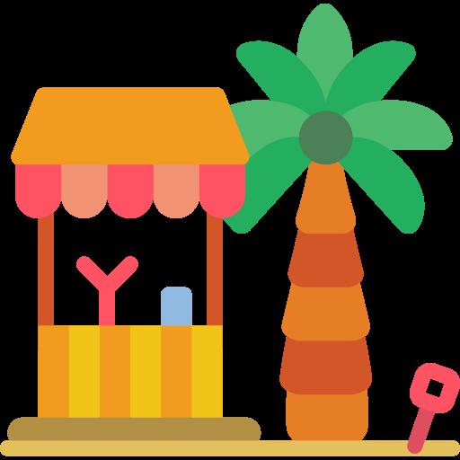 cabane de plage  Icône gratuit