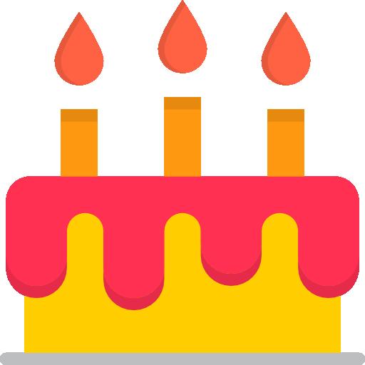 Торт на день рождения  бесплатно иконка