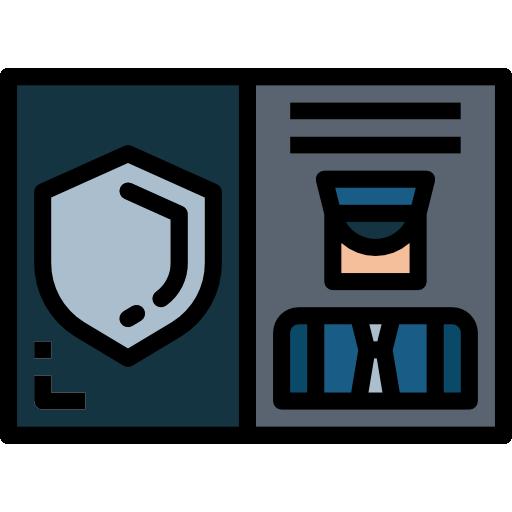 경찰 신분증  무료 아이콘