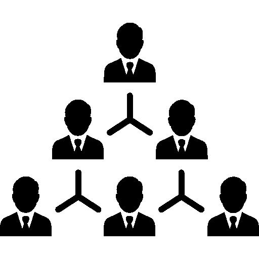 estrutura hierárquica  grátis ícone