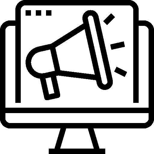 Digital marketing  free icon