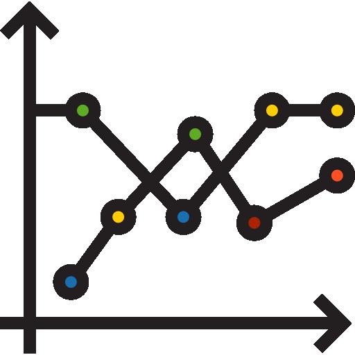 graphique linéaire  Icône gratuit