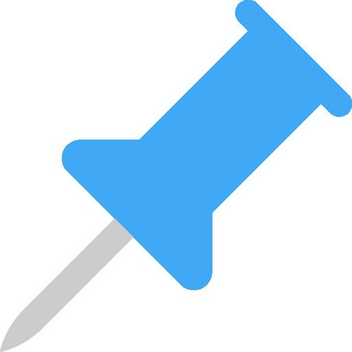 Push pin  free icon