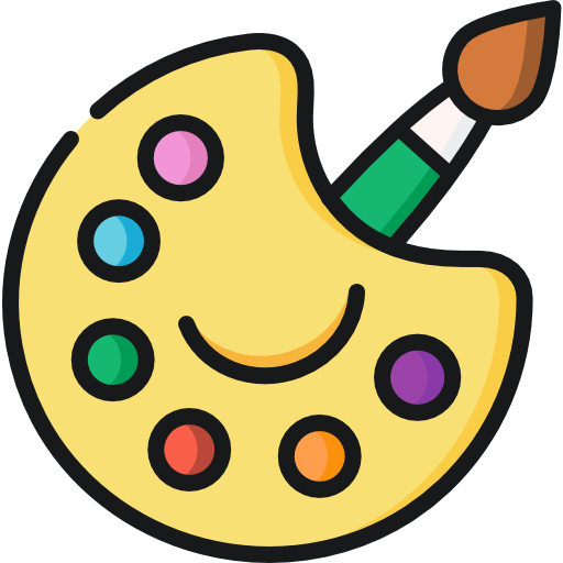 Color palette  free icon