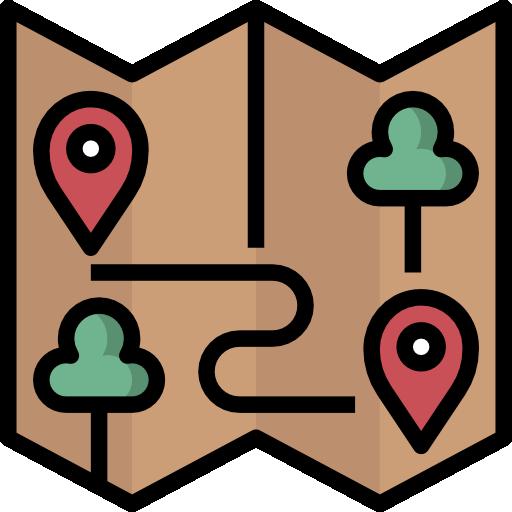 Карты и местоположение  бесплатно иконка