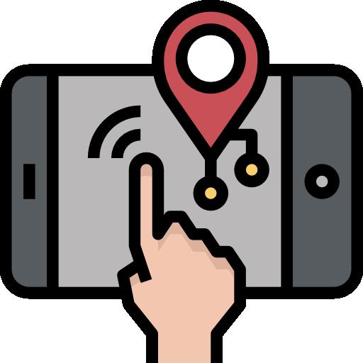 Карты и места  бесплатно иконка
