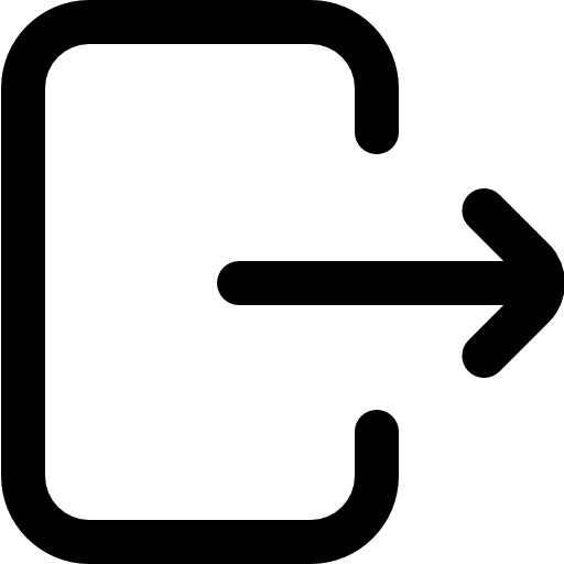 salida  icono gratis