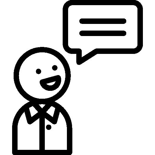 parlant  Icône gratuit
