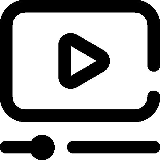 Video marketing  free icon