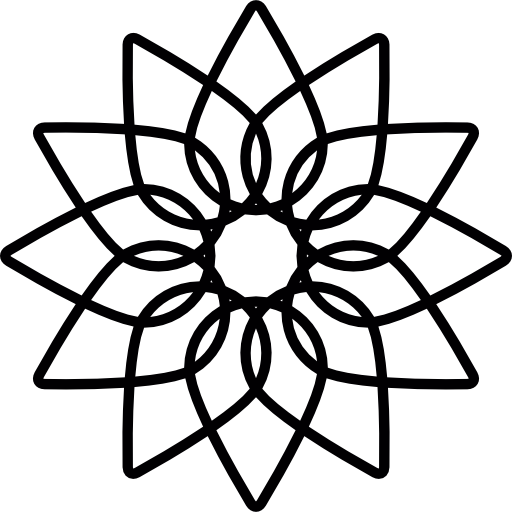 Geometric flower  free icon