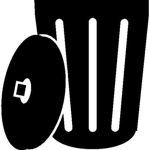 Open dustbin  free icon