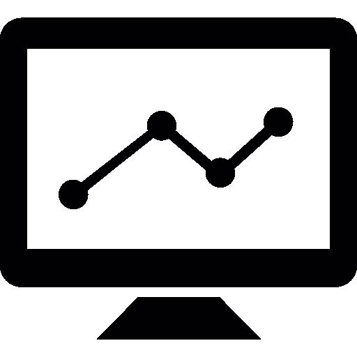 tela de linha do gráfico  grátis ícone
