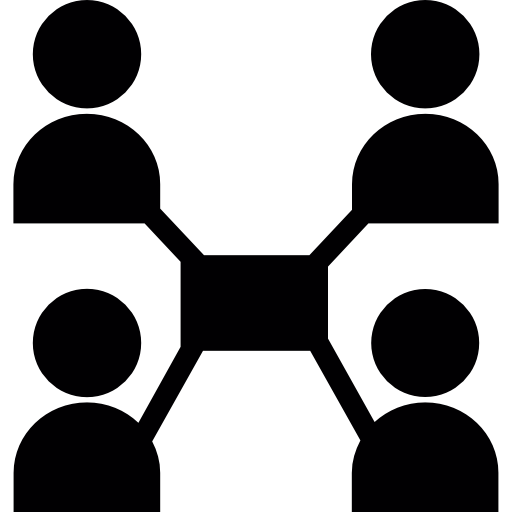 colaboración en línea  icono gratis
