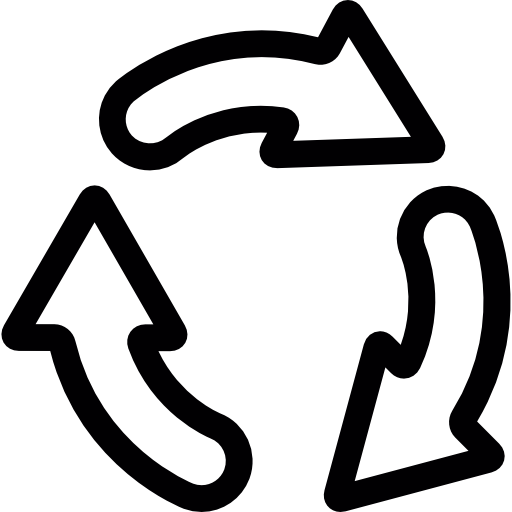Recycling arrows cycle  free icon