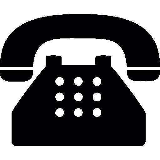 viejo teléfono típico  icono gratis