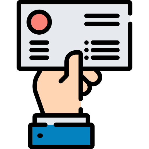 Визитная карточка  бесплатно иконка