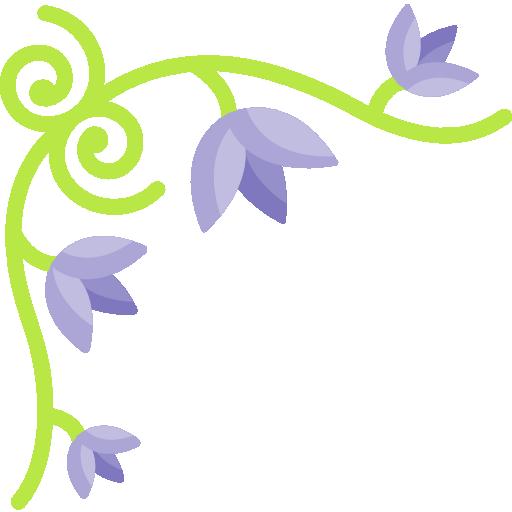 diseño floral  icono gratis