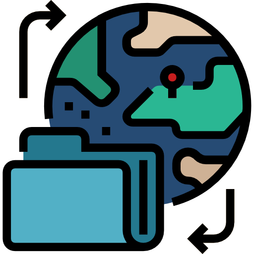 compartir datos  icono gratis