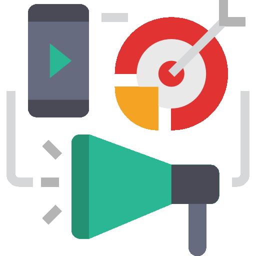 디지털 마케팅  무료 아이콘