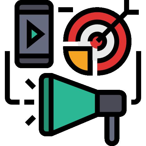 le marketing numérique  Icône gratuit