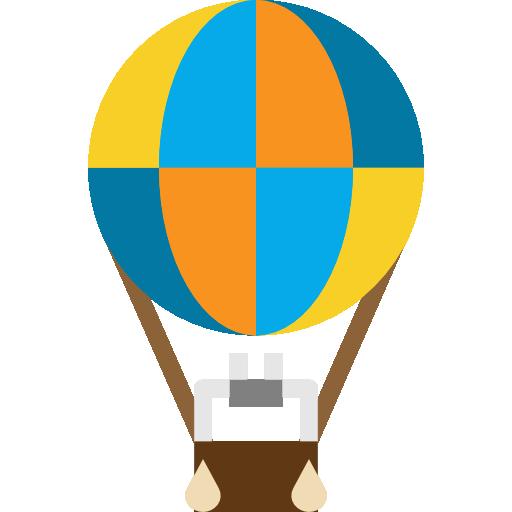 Air balloon  free icon