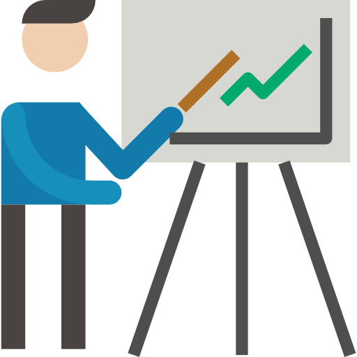 relatório de negócios  grátis ícone