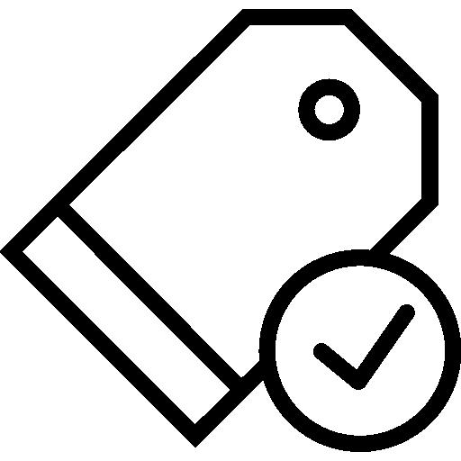 etiqueta de precio  icono gratis