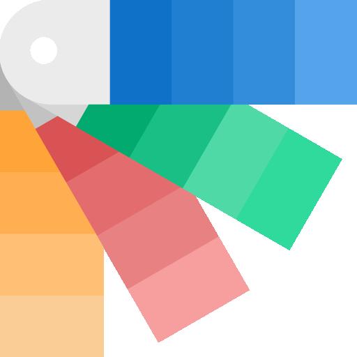 paleta de cores  grátis ícone