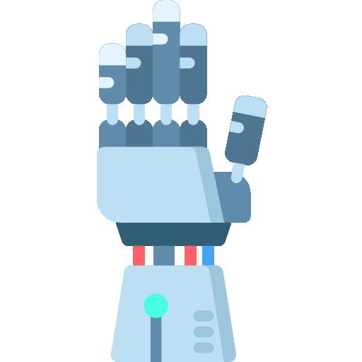 mano robótica  icono gratis