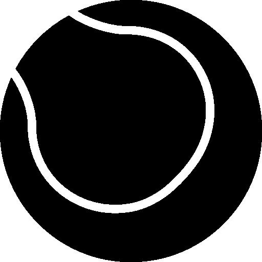 Теннисный мячик  бесплатно иконка