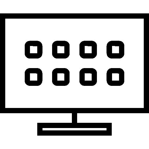 televisión inteligente  icono gratis