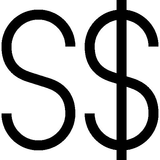 싱가포르 달러  무료 아이콘