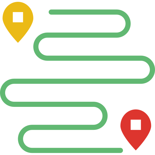 Road map  free icon