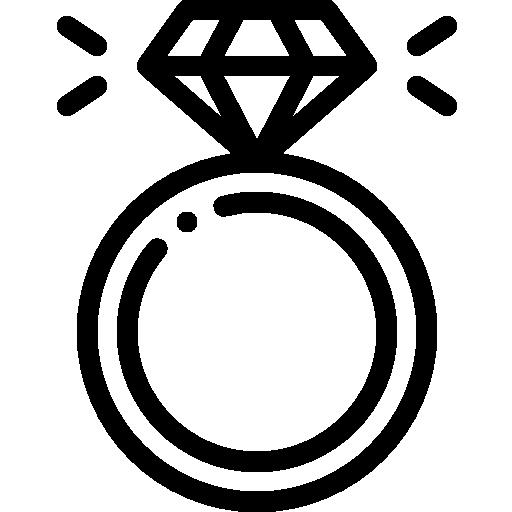 anillo de compromiso  icono gratis