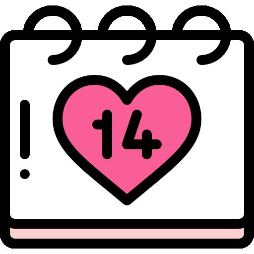 día de san valentín  icono gratis