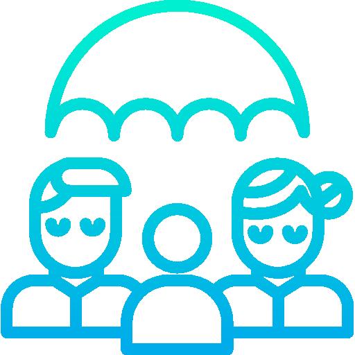 가족 보험  무료 아이콘