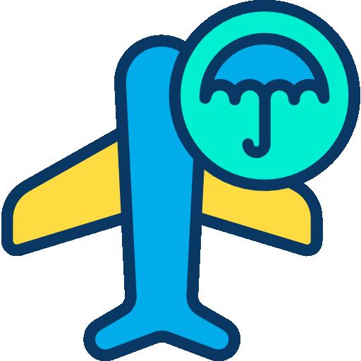 여행 보험  무료 아이콘