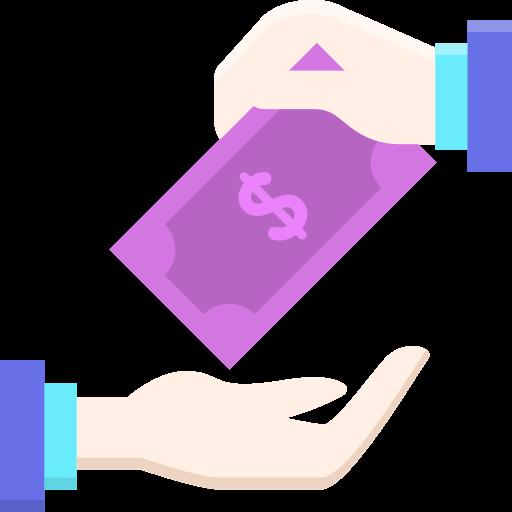 remise en argent  Icône gratuit