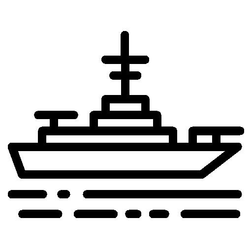 navio de guerra  grátis ícone
