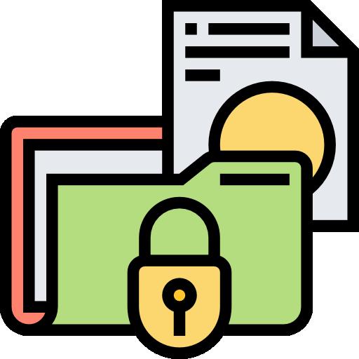 carpeta confidencial  icono gratis
