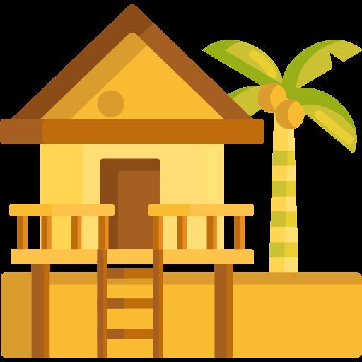 maison de plage  Icône gratuit