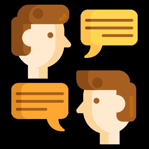 Talking  free icon