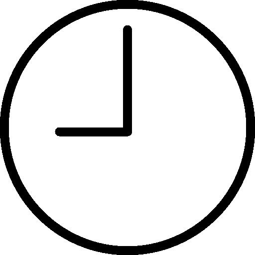 hora  icono gratis