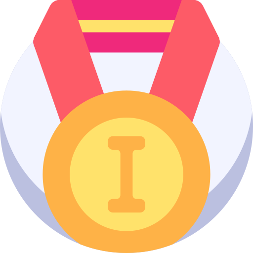 Gold medal  free icon